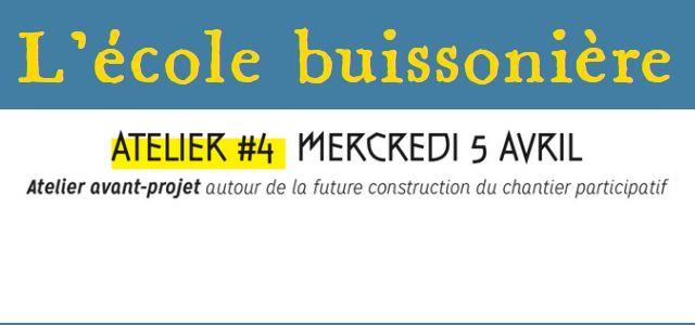 Au programme : atelier-conception à 15h et apéritif-discussion à 19h